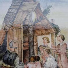 Pellegrini accorrono presso il Frassino