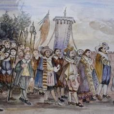 La statuina viene portato presso la Chiesa di Peschiera