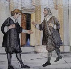Il monsignore affidata la chiave del tabernacolo al sacerdote