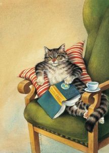 245301ed6f04fca44f879e48c22a9559--cat-art-coffee-and-books