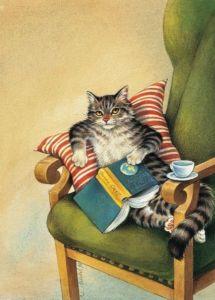 245301ed6f04fca44f879e48c22a9559--cat-art-coffee-and-books